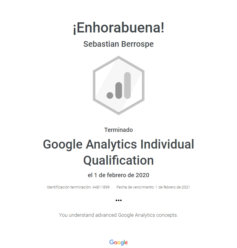 Certificación Analytics Google Bogotá Colombia