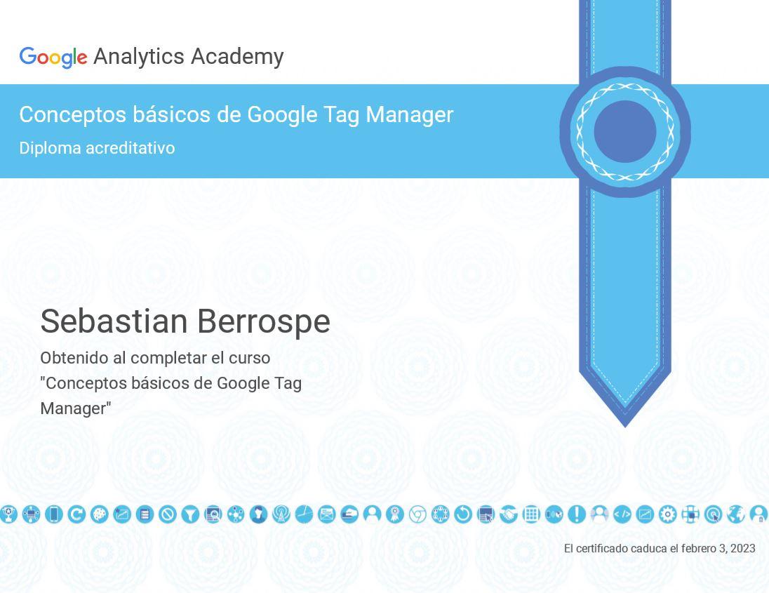 Certificación Google Tag Manager Bogotá Colombia
